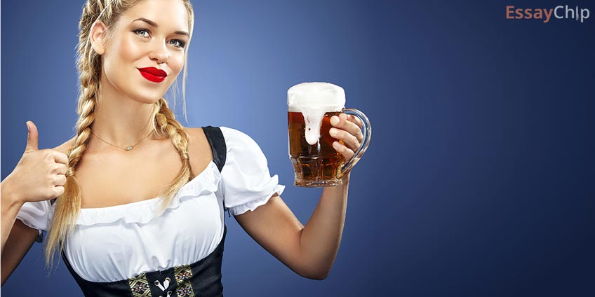 Waitress on a Bavarian Fest